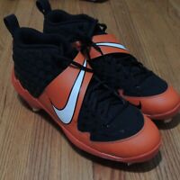 Nike Force Zoom Mike Trout 6 Pro Baseball Cleats Mens Sz 12 Black Orange NEW