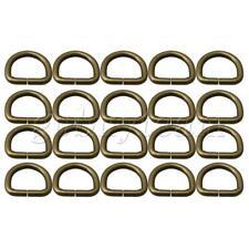 20pieces D Ring Loop Metal Antique Brass Handbag Rings Loops 2cm Dia
