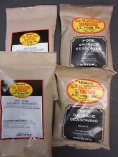 VARIETY Packs Breakfast Pan Sausage Seasoning Pork Deer for 100 LBs Medium & Hot