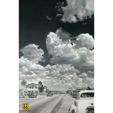 ROUTE 66 POSTER - 10 SECONDS AFTER - CARS GAS STATION - 91 x 61 cm 36 x 24""