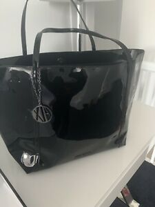 Armarni Exchange Black Patent  Tote Bag Large