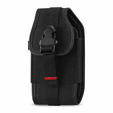 Canvas Pouch Clip Case for ATT Pantech Breeze 4 IV, Impact P7000, Swift P6020
