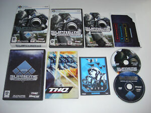 SUPREME COMMANDER Limited Edition UEF Faction Pack Pc DVD Rom FAST POST
