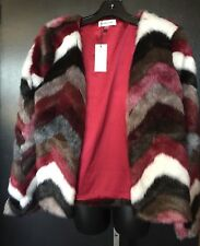 BNWT Sugarlips Coat perfect holiday faux fur Sparkle Cocktail Wear Size Large