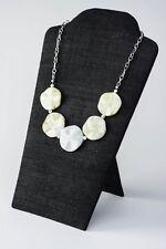 Chunky Green Stone & Chain Statement Necklace, Peridot Jasper, 18 inches