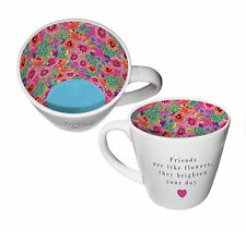 Friends Are Like Flowers, They Brighten Your Day Inside Out Mug In Gift Box