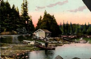 Vintage Postcard from  Finland, Boat & River scene, early 1900's