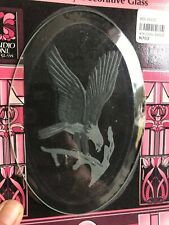 Eagle Sandblasted Oval for Stained Glass