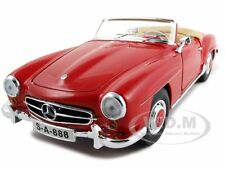 1955 MERCEDES 190 SL CABRIOLET RED 1/18 DIECAST CAR MODEL BY MAISTO 31824