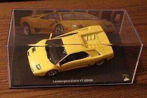 LB12O voiture 1/43 IXO LAMBORGHINI : DIABLO VT 2000 jaune