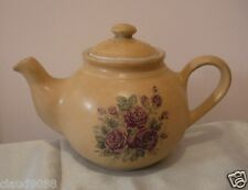 EARTHLY COLLECTIONS  POTTERY COTTAGE ROSE  TEAPOT 4 CUP