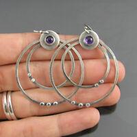 Fashion Boho 925 Silver Ear Hoop Ear Drop Dangle Earrings Women Jewelry Gifts