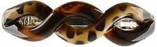 Caravan Braid Twisted Barrette In A Tortoise Shell and Leopard Painted Design