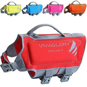 Vivaglory Dog Life Jackets, PREMIUM Skin-Friendly Neoprene Dog Life Vest YELLOW