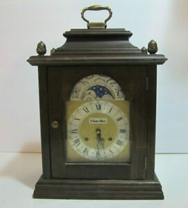 Ethan Allen Mantle Wood Clock with key made in west Germany