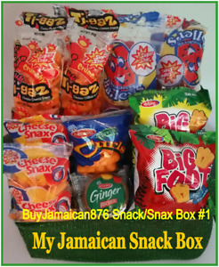 #1 My Jamaican Snack Box - 7 Favorite snacks- 6 ea- 42 Snacks(Buyers Favorite)