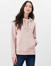 Joules Womens Myra Heavyweight Hooded Sweatshirt - Mauve - 20