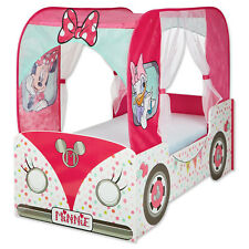Luxus Kinderbett Disney Minnie Mouse 140x70cm Jugendbett Mädchenbett Bett Holz