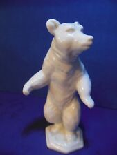 Vintage ROSENTHAL German Porcelain Figurine Dancing Bear White