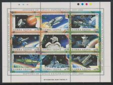 Sierra Leone - 1989, History of Space Exploration sheet - MNH - SG MS1302b