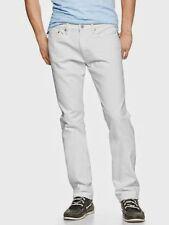 ~NWT MENS GAP 1969 33X32 SLIM WHITE JEANS pants ~1969 STYLE