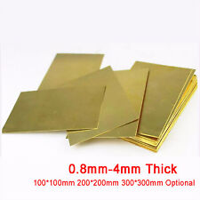 DIY Brass Sheet Plate Block 0.8/1/1.2/1.5/2/2.5/3/4mm Thick - 21 sizes available