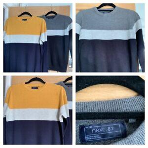 NEXT Boys Cotton Colour Block Jumper - Ages 4-12 - 2 designs - Brand New