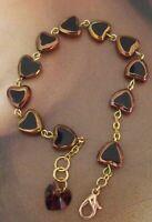 New OOAK Glass Heart Rosary Catholic Religious Bracelet with Crystal Heart
