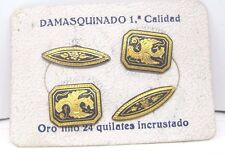 Vtg DAMASCENE cuff links DAMASQUINADO DE ORO 24Kt (AD302)