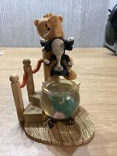 More details for bad taste bears figurine rare pussy collection don't forget to feed the cat