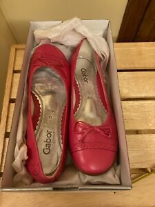 GABOR PINK LEATHER/SHOES, SIZE 4.5/38, NEW WITH BOX, NEVER WORN