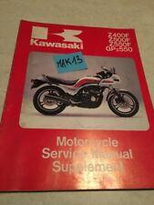 Kawasaki Z400 Z500 Z550 GPZ550 supplement revue moto technique manuel atelier