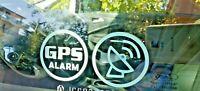 Adesivi antifurto GPS Satellite dissuasore furti localizzatore segnale 4 Pezzi