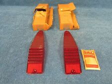 1967 MERCURY COMET STATION WAGON BRAKE TAIL LIGHT LENSES PAIR  NICE NOS FORD 515