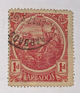 Travelstamps: 1916 Barbados Stamps Scott #129 Seal of Barbados ' Used NG