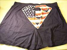 Superman US Flag Boxer Shorts Red White Blue Underwear S Small Sleep Briefs