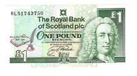 Vintage Banknote Scotland UNC 1994 1 Pound Sterling Pick 358a