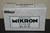 Nikon Binoculars MIKRON 7 x 15 M CF Black New