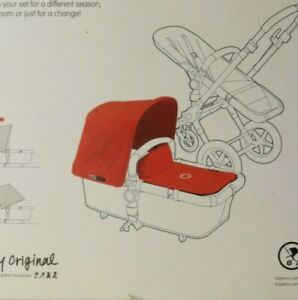 Bugaboo Cameleon3 RED Extendable Fabric Canopy  2-1 Set  Never used