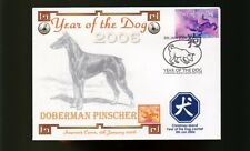 DOBERMAN PINSCHER 2006 CI YEAR OF THE DOG STAMP COVER 2