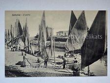 CATTOLICA il porto animata barca pesca fish boat Rimini pescatori cartolina