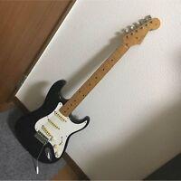Used! Fender Japan Stratocaster Vintage Guitar Black Made in Japan 1984-1987
