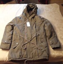 Men's Padded Hooded Parka Jacket Double Zip Up/ Khaki/ Size X-Large/ NEW