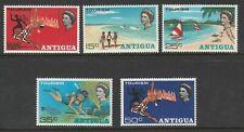 Antigua 1968 Tourism set SG 216-220 Mnh.