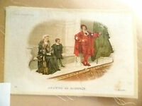 B.D.V. CIGARETTES POSTCARD SIZE SILK- AWAITING AN AUDIENCE (GEETS) No. 18