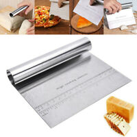 Stainless Steel Pizza Dough Scraper Cutter Flour Pastry Cake Kitchen Gadgets