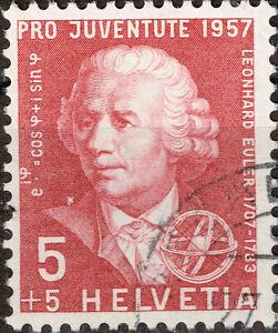 Switzerland Famous math- physicist astronomer Leonhard Euler stamp 1957 A-10