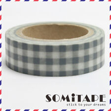 Black Check Gingham Pattern Washi Tape, Craft Decorative Tape