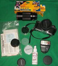 VTG PENTEX MG 35mm CAMERA FLASH FILM ASAHI OPTICAL LENS 1:2 50mm SPECTRUM PHOTO