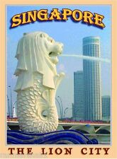 Singapore The Lion City Southeast Asia Asian Travel Advertisement Art Poster